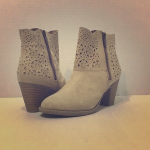Report Signature Women's Tan Ankle Booties 7.5